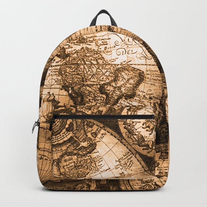 3e15977d36 World Map Antique Vintage Maps Backpack by naturemagick
