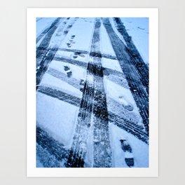 Winter Path Art Print