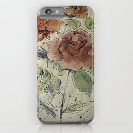 watercolor Rose #6 Original Painting by OLena Art iPhone Case
