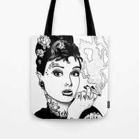 tiffany Tote Bags featuring Tiffany by AdamWillis