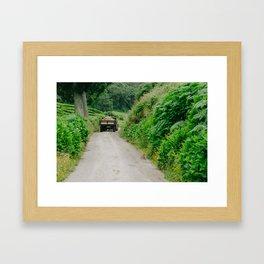Le tracteur (Azores) Framed Art Print