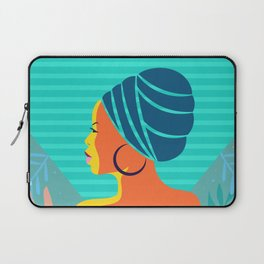 Abstract African Woman Portrait Laptop Sleeve