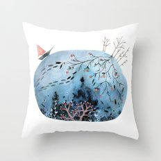 BRIDGES AND BALLOONS Throw Pillow