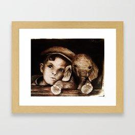 dreams from a train  Framed Art Print