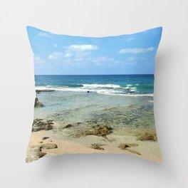 Rosh Hanikra Beach Throw Pillow