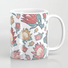 Australian Native Floral Pattern - King Protea Coffee Mug