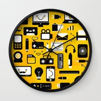 technology Wall Clocks featuring Technology  by adrianperive