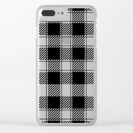 Twisted Classic Plaid Clear iPhone Case