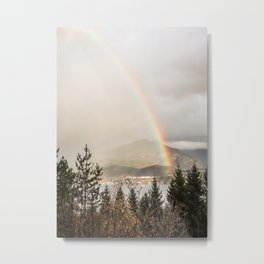 Rainbow In The Mountains | Lake In Norway Photo Art Print  | Nature Landscape Travel Photography Metal Print