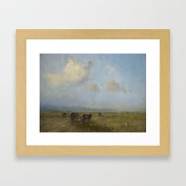 Cows in the Meadow Framed Art Print
