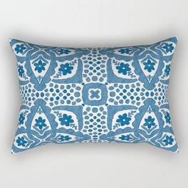 Indigo Blue Folk Art Dutch Delft Rectangular Pillow