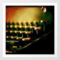 typewriter Art Prints featuring Typewriter by Jean-François Dupuis
