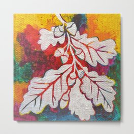 Leaves on the World Tree: Basques Oak Metal Print