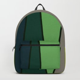 Green Abstract Pattern Turtle Backpack