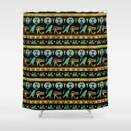 Egyptian  Ornament Symbols Pattern Shower Curtain