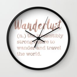 Wanderlust definition Wall Clock