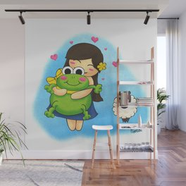 Nootchi et la grenouille Wall Mural