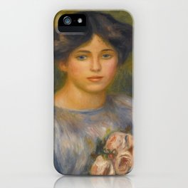 "Auguste Renoir ""Jeune fille aux roses (Young girl with flowers)"" iPhone Case"
