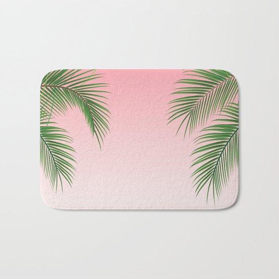 Palm Tree Leaves Bath Mat