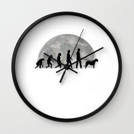 Irish Wolfhound Evolution Moon Wall Clock
