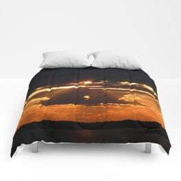 Exhilarating sky Comforters