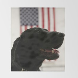 All-American Black Labrador Throw Blanket