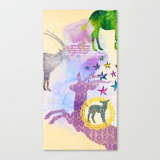 Chinese Lunar New Year and 12 animals  ❤  The SHEEP 羊 Canvas Print