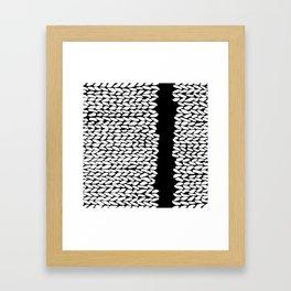 Missing Knit On Side Framed Art Print