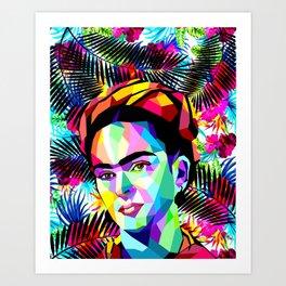 frida tropical Art Print