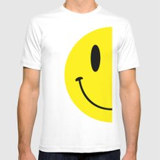 Half Smile (Right) Mens Fitted Tee White MEDIUM