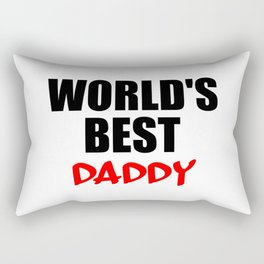 worlds best daddy funny saying Rectangular Pillow