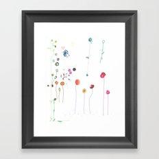 Floral Fall Framed Art Print