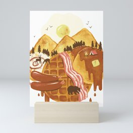 Breakfastscape Mini Art Print