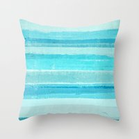 bar Throw Pillows featuring Sand Bar by T30 Gallery
