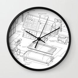 Korg MS-10 - exploded diagram Wall Clock