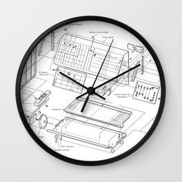 Korg MS-10 - exploded diagram Wall Clock