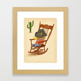 Howdy Framed Art Print