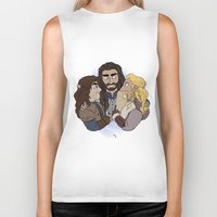 thorin Biker Tanks featuring Thorin, Fíli and Kíli by BlueSparkle