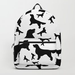 Golden Retriever - black stencil silhouettes Backpack