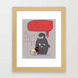 Ahem!  Framed Art Print