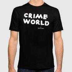 Crime World Logo Mens Fitted Tee Black MEDIUM