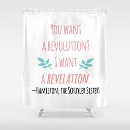 THE SCHUYLER SISTERS | HAMILTON Shower Curtain