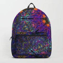 Mandala Glitch Stained Glass Backpack