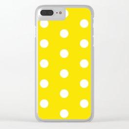 POLKA DOT ((bumblebee)) Clear iPhone Case