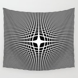 White On Black Convex Wall Tapestry
