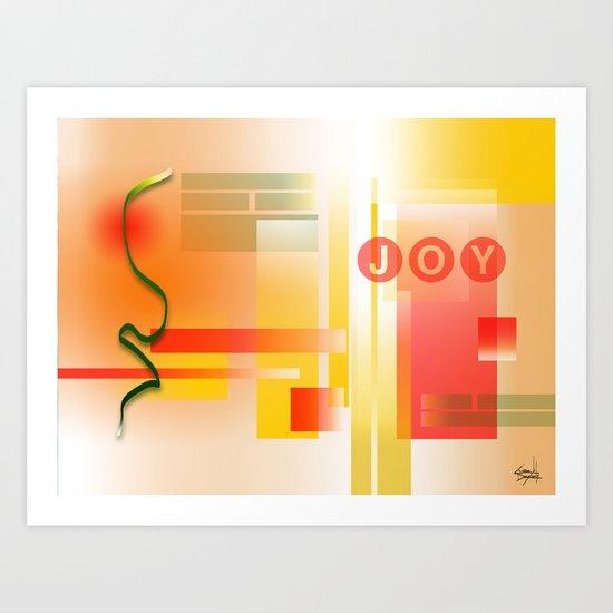 JOY IS STRENGTH Art Print