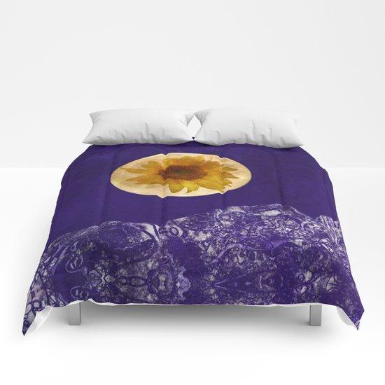 Sunflower Moon Comforters