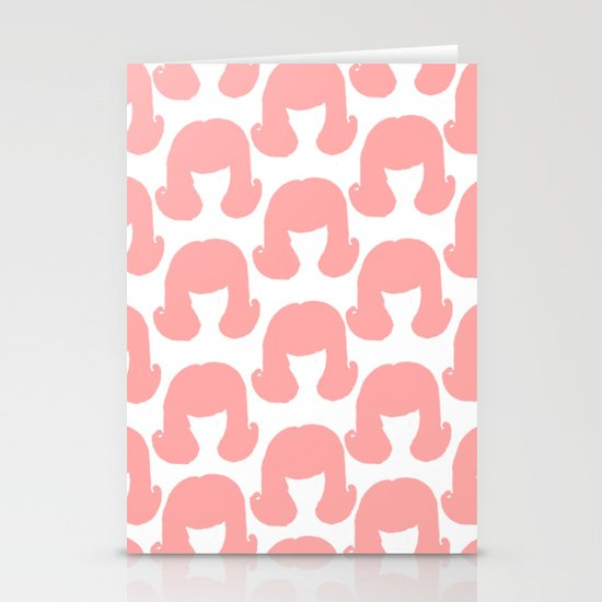 Pink Bouffants Stationery Cards