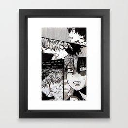 Todoroki Shouto Story Framed Art Print