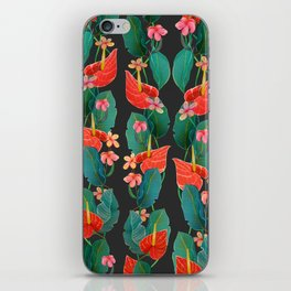 vertical floral iPhone Skin
